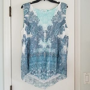 Tops - Pretty Lacy Sleeveless Top 2X